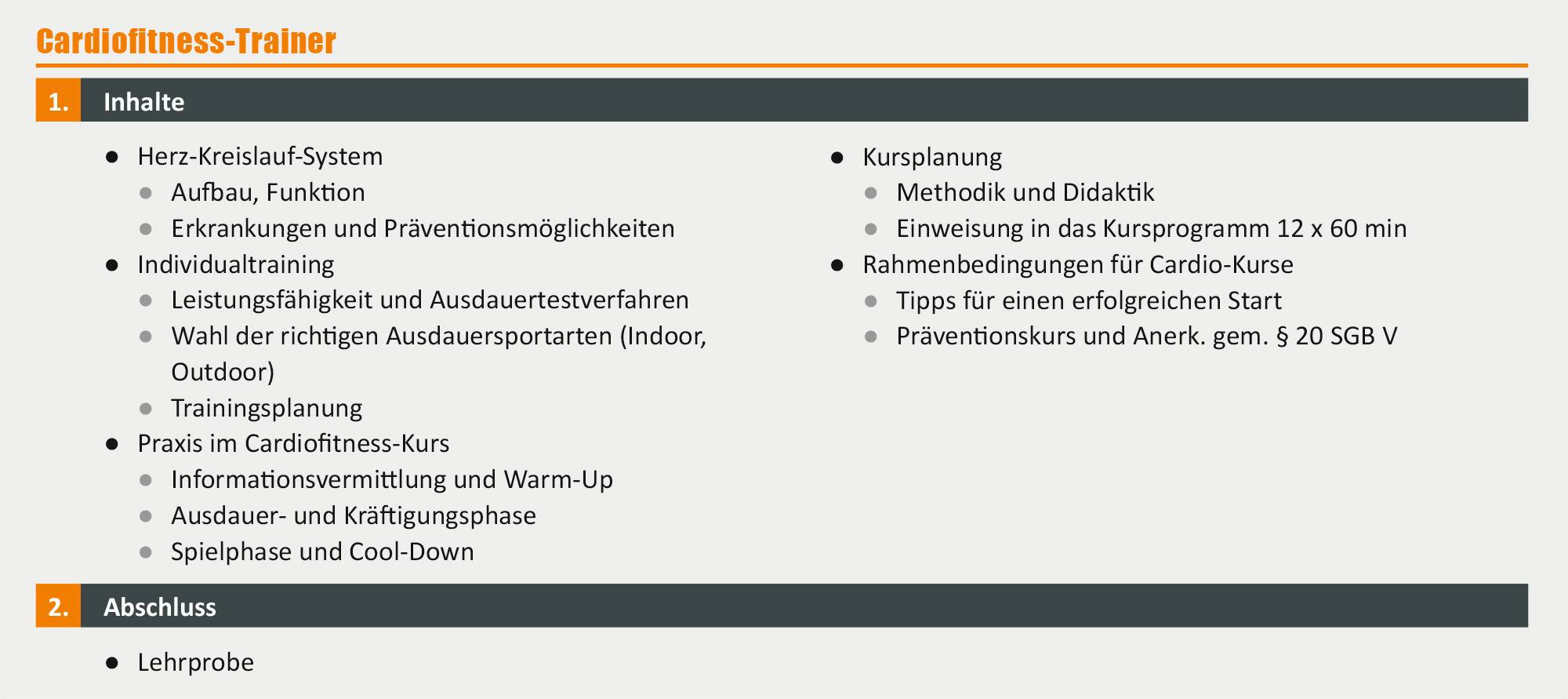 Cardiofitness-Trainer - Ausbildung in Berlin | deutschlandweit studieren