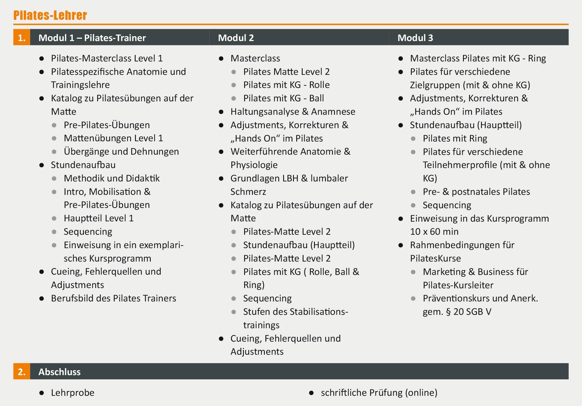 Pilates-Lehrer - Ausbildung in Berlin | deutschlandweit studieren