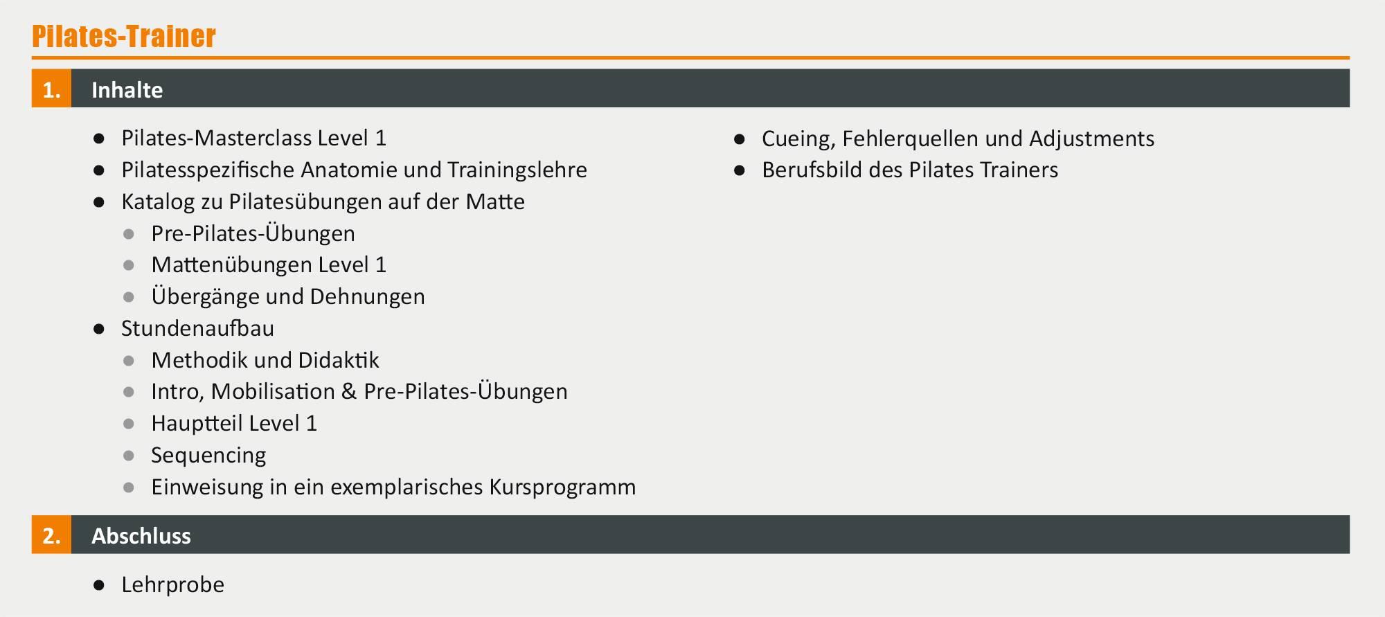 Pilates-Trainer – Ausbildung in München | deutschlandweit studieren